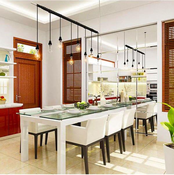vị trí đặt gương phòng bếp