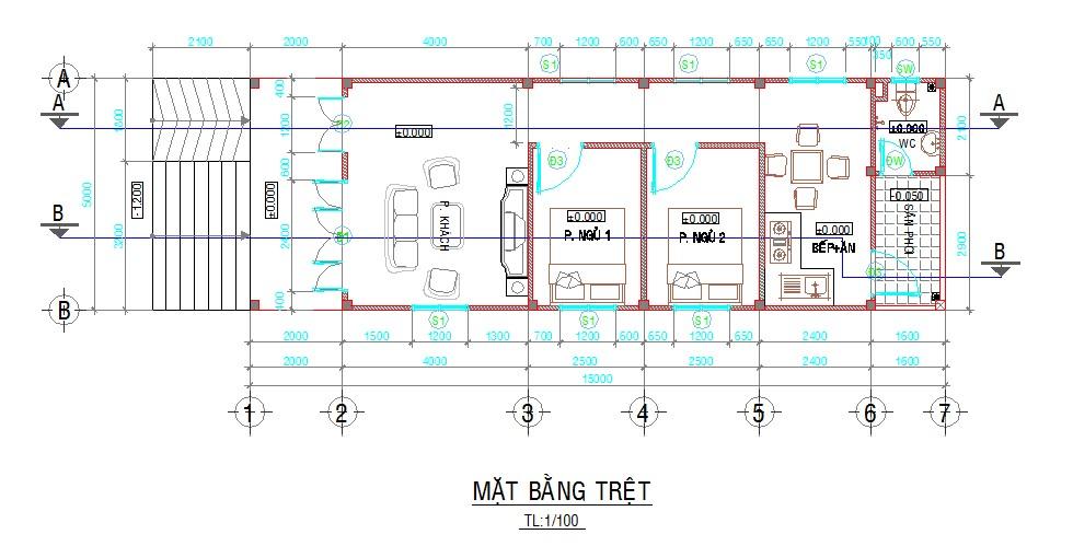 Bản vẽ AutoCAD nhà cấp 4