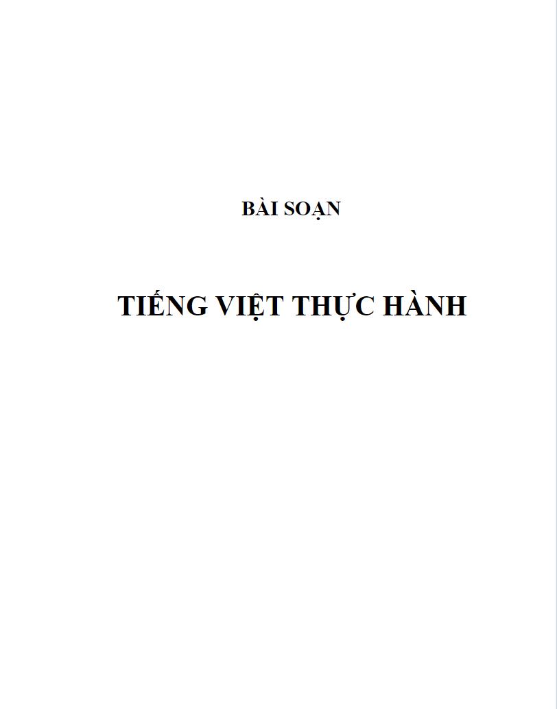 Bài giảng Tiếng Việt thực hành