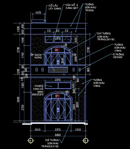 Nhà phố 2 tầng 5x15m